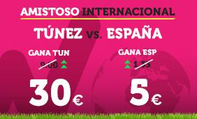 noticias apuestas Supercuota Wanabet Amistoso Túnez vs España