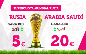 noticias apuestas Supercuota Wanabet Mundial Rusia - Arabia Saudí