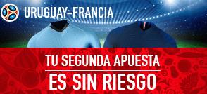 noticias apuestas Sportium Uruguay-Francia: Tu Segunda apuesta es Sin Riesgo