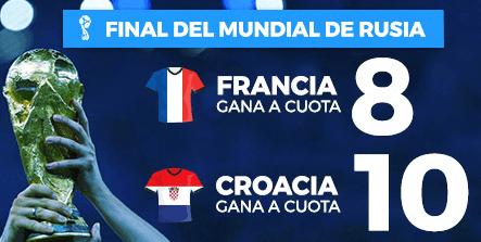 noticias apuestas Supercuota Paston Final Mundial Rusia Francia vs Croacia
