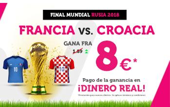 noticias apuestas Supercuota Wanabet Mundial Rusia Francia vs Croacia