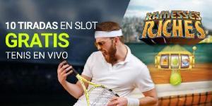 Tiradas gratis en tragaperras con el tenis en vivo en Luckia