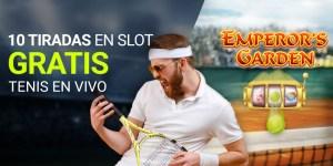 10 tiradas gratis en tragaperras con el tenis en vivo en Luckia