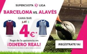 Megacuota 10 Barcelona v Alaves gana Barcelona en Wanabet