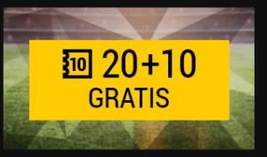 20€+10€ gratis en Copa Rey Bwin