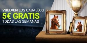 Vuelven los caballos 5€ gratis todas las semanas con Luckia