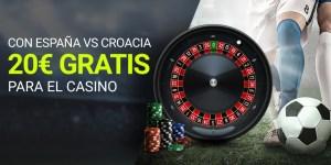 Realiza una apuesta en directo a cuota mínima 1.70 y si fallas te la devolvemos en un bono para el Casino de 20€.