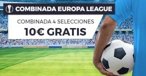 Europa League combina 4 selecciones,10€ gratis en Paston