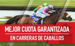 Mejor cuota garantizada en carreras de caballos en Sportium