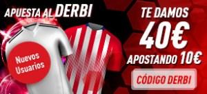 Derbi madrileño,apuesta 10€ y te damos 40€ en Sportium