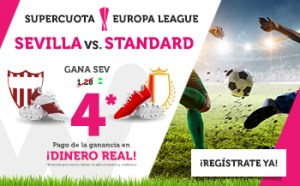 Megacuota 4.0 para el Sevilla en Europa League en Wanabet