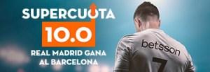 Megacuota 10 para el R.Madrid en el derbi liguero en Betsson