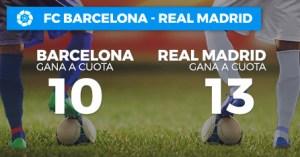 Megacuota doble Barcelona gana 10 Madrid gana 13 en Paston