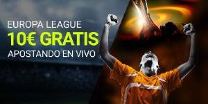 Europa League 10€ gratis apostando en vivo en Luckia