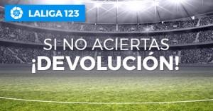 La liga 123 si no aciertas¡devolucion! en Paston
