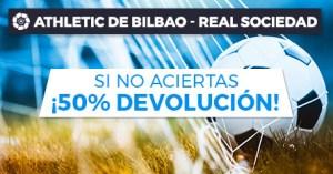 At Bilbao-R.Sociedad sino aciertas devolucion en Paston