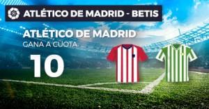 Megacuota 10 a la victoria del At.Madrid en la liga con Paston