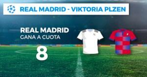 Megacuota 8 gana Madrid a Viktoria Plzen en Paston