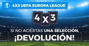 4 por 3 Uefa Europa Legue si no aciertas una seleccion devolucion con Paston
