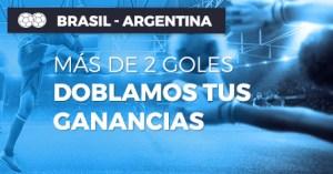 Brasil-Argentina si hay mas de 2 goles,doblamos tus ganancias en Paston