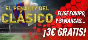El penalty del clasico,consigue 3€ gratis con Sportium