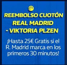 Reembolso cuoton,hasta 25€ gratis si Madrid marca en los 30 minutos primeros en William Hill