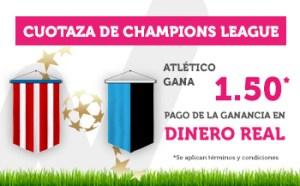 Megacuota Champions 5 a la victoria del Madrid en Wanabet