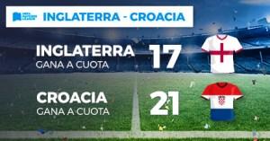 Megacuota doble gana Inglaterra 17-gana Croacia 21 en Paston