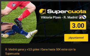 Megacuota Madrid gana y +3.5goles en Champions en Bwin