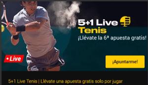 5+1 live en tenis,llevate la 6ª apuesta gratis en Bwin