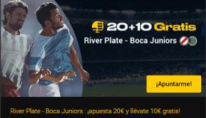 20+10 River Plata-Boca Juniors en Bwin
