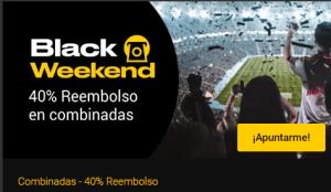 Black Weekend 40% reembolso en combinadas en Bwin