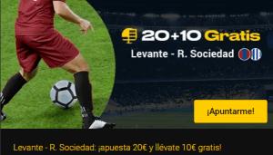 20+10 Levante-Real Sociedad en Bwin