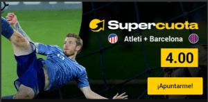 Megacuota 4.0 ganan Atletic y Barcelona en Bwin