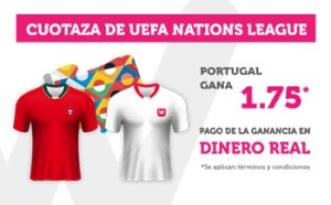 Cuotaza Uefa nations 1.75 gana Portugal Wanabet