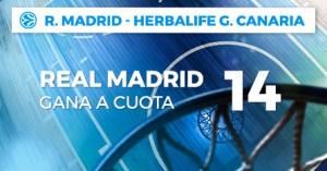 Megacuota 14 gana Madrid a Herbalife Canaria en Paston
