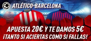 At-Barça apuesta 20€ y te damos 5€ gratis en Sportium