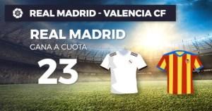 Megacuota 23 a la victoria del Madrid frente al Valencia en Paston
