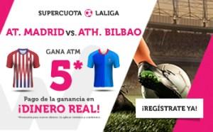 Megacuota 5 a la victoria del At Madrid en liga en Wanabet