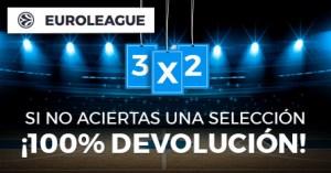 Euroliga basket 3 por 2 si no aciertas una seleccion devolucion en Paston