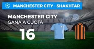 Megacuota 16 para el Manchester City en Champions con Paston