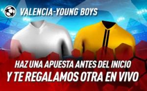 Valencia-Young Boys haz una apuesta antes del inicio y te regalamos otra en Sportium