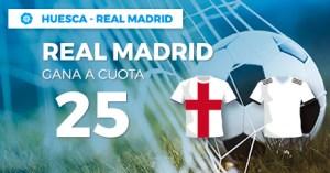 Megacuota 25 gana Madrid a Huesca en Wanabet