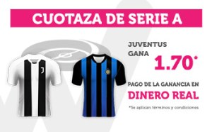 Cuotaza Serie A 1.70 gana Juventus en Wanabet