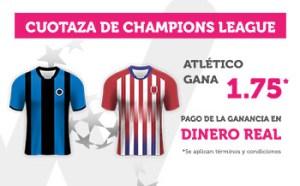 Cuotaza Champions 1.75 gana Atletico en Wanabet