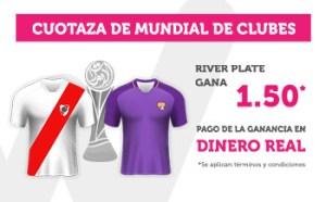 Cuotaza mundial de clubes 1.50 gana River Plata en Wanabet