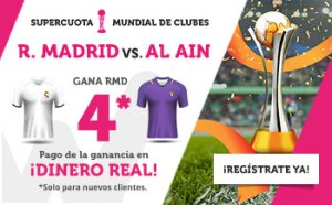 Megacuota 4 gana Madrid a Al ain en Wanabet