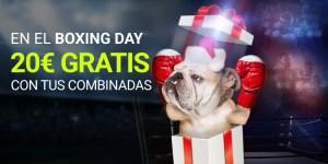 En el boxing day 20€ gratis con tus combinadas en Luckia