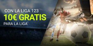 Con la liga 123 10€ gratis para la liga en Luckia