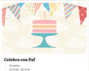 Bienvenido a la fiesta de cumpleaños de Paf